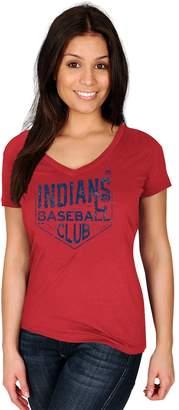 Majestic Women's Cleveland Indians Baseball Club Tee