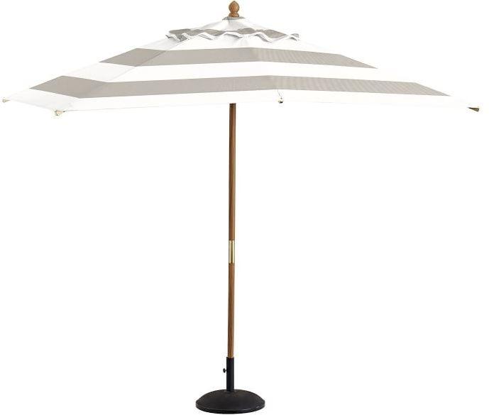 Premium Sunbrella®; Rectangular Umbrella - Stripe