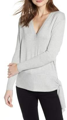 Chelsea28 Side Tie V-Neck Sweater