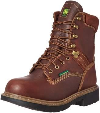 John Deere Men's 8 Brn WP Farm/Wrk Nst LU Work Boot