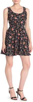 Love...Ady Floral Printed Skater Dress