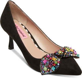 Betsey Johnson Axle Kitten-Heel Pumps