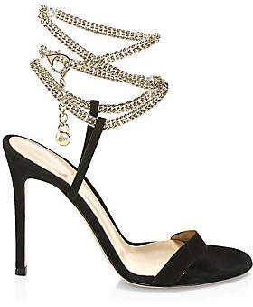 Gianvito Rossi Women's Debbie Chain Leather Sandals