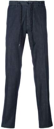 Pt01 drawstring straight trousers