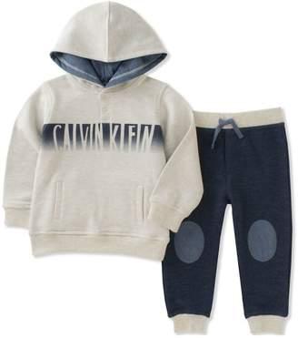 Calvin Klein boys 2-piece hoodie jogger set