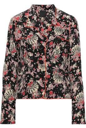 Anna Sui Printed Silk-crepe Jacket