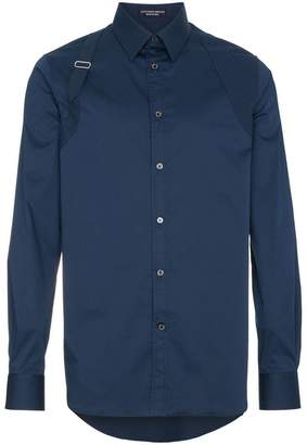 Alexander McQueen Harness long sleeved cotton shirt