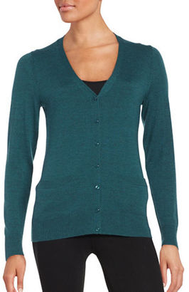 Lord & Taylor Merino Wool Button-Front Cardigan $49.95 thestylecure.com