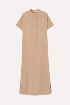 Agnona Oversized Stretch-cady Dress - Beige