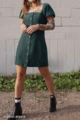 Urban Outfitters Corduroy Puff Sleeve Dress