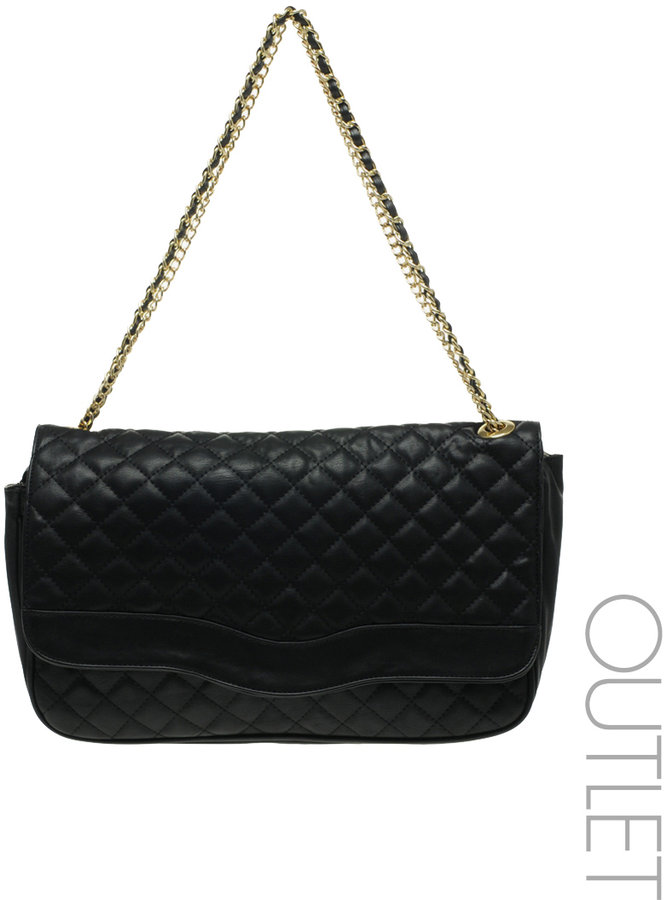 Marc B Double Chain Oversized Quilted Bag