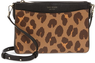 Kate Spade Margaux Leopard Medium Convertible Crossbody Bag