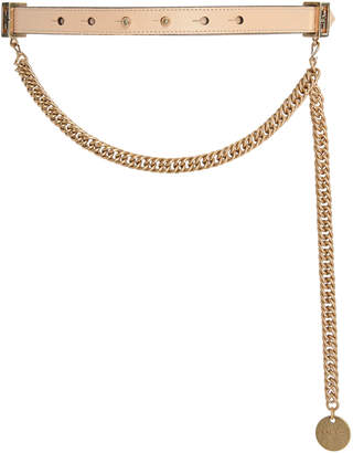Givenchy Chain-Trimmed Leather Waist Belt