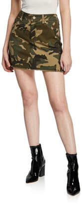 KENDALL + KYLIE 5-Pocket Camo-Print Mini Skirt