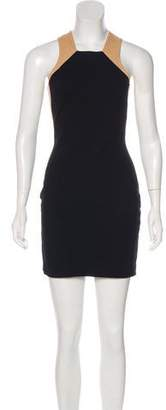 Mason Leather-Accented Bodycon Dress