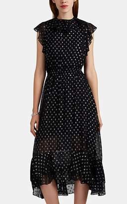 Robert Rodriguez Women's Juli Silk-Blend Fil Coupé Midi-Dress - Black