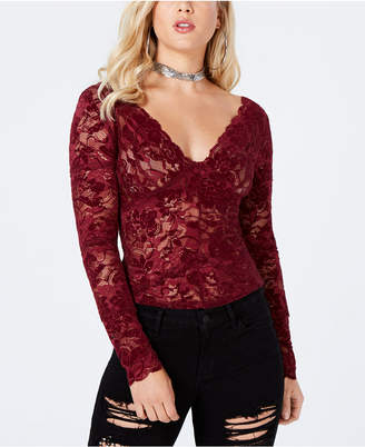GUESS Drea Long-Sleeve Lace Top