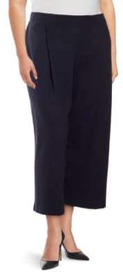 Lafayette 148 New York Plus Cropped Pleated Pants