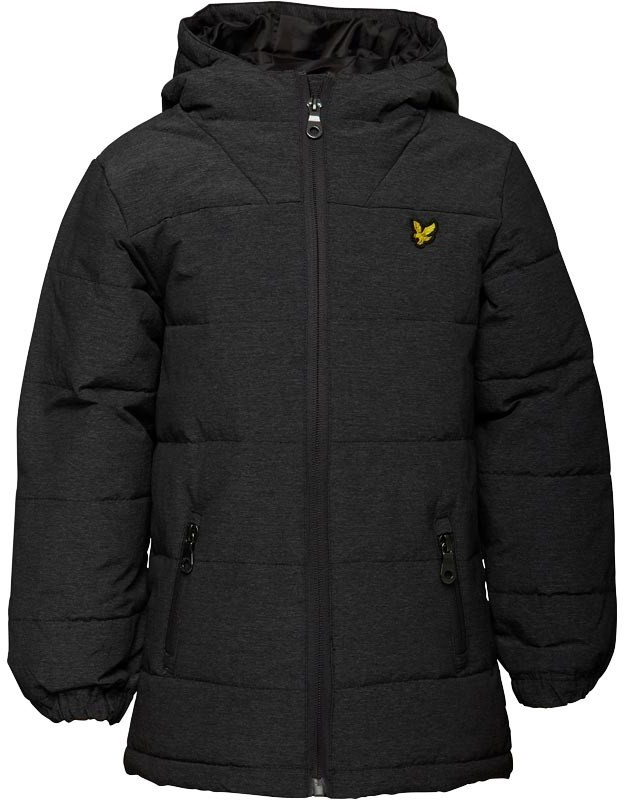 Boys Wadded Puffer Jacket Charcoal Marl