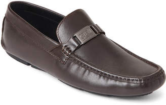 Class Roberto Cavalli Chocolate Leather Driving Loafers