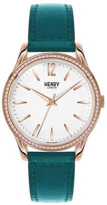 Richmond HENRY LONDON Analog Pave Goldtone Bracelet Watch