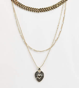 Liars & Lovers heart layering necklaces