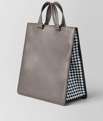 Bottega Veneta STEEL INTRECCIATO CHECKER TOTE