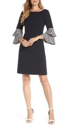 Eliza J Double Ruffle Sleeve Dress