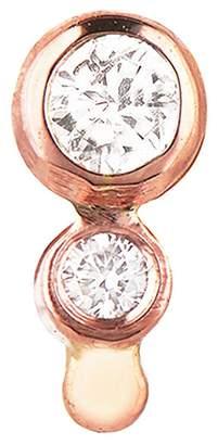 Celine Daoust Double Diamond Single Stud Earring - Rose Gold