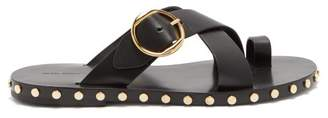 Isabel Marant Jonya Toe Ring Leather Sandals - Womens - Black