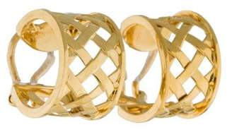 Verdura 18K Woven Hoop Earrings