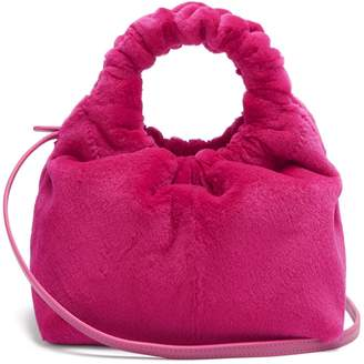 The Row Double Circle small mink bag