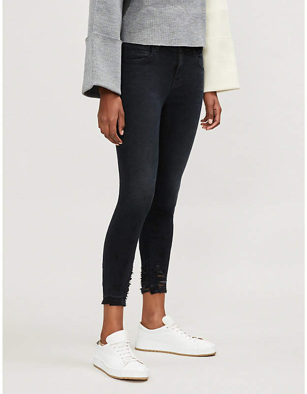 835 mid-rise skinny cropped jeans