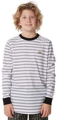 Billabong New Boys Kids Boys Issue Stripe Ls Tee Long Sleeve Cotton Black