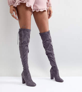 Lipsy Faux Suede Over The Knee Boots