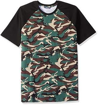 ROBUST Men's Half Sleeve Ranglan Army Print T-Shirt (Size-)
