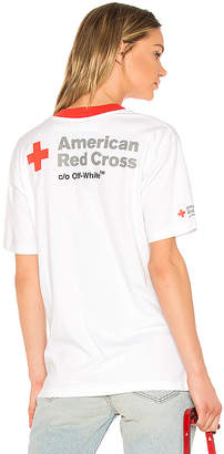 Off-White Red Cross Oversized Tee
