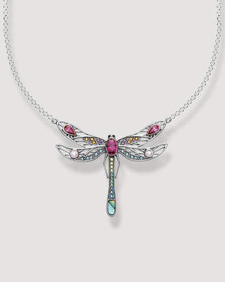 Thomas Sabo Paradise Colours Large Dragonfly Silver Necklace