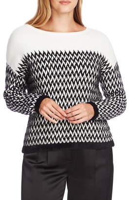 Vince Camuto Chevron Eyelash Sweater