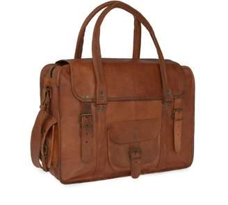 At Wolf Badger Vida Vintage Leather Travel Bag Extra Large