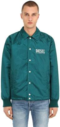 Diesel Embroidered Nylon Coach Jacket
