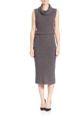 Alice + Olivia Arra Ribbed Cashmere & Wool Blend Dress $298 thestylecure.com