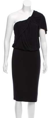 Robert Rodriguez One-Shoulder Knit Dress