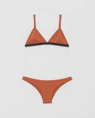 Haight Black + Rust Taping Triangle Bikini
