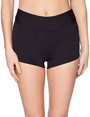 Nautica Women's Solid Core Boyshort Bikini Bottom