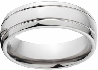 Generic Polished 7mm Titanium Wedding Band with Comfort Fit Design