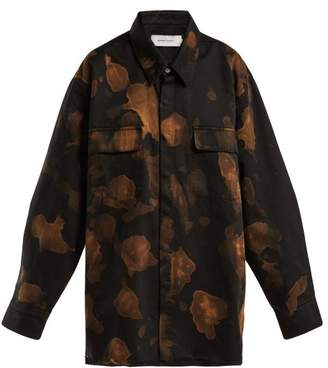 Marques Almeida Marques'almeida - Bleached Cotton Overshirt - Womens - Black Multi