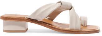 LOQ - Pau Leather Sandals - White