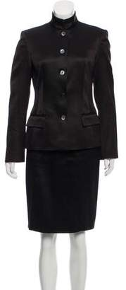 Trussardi Virgin Wool-Blend Skirt Suit