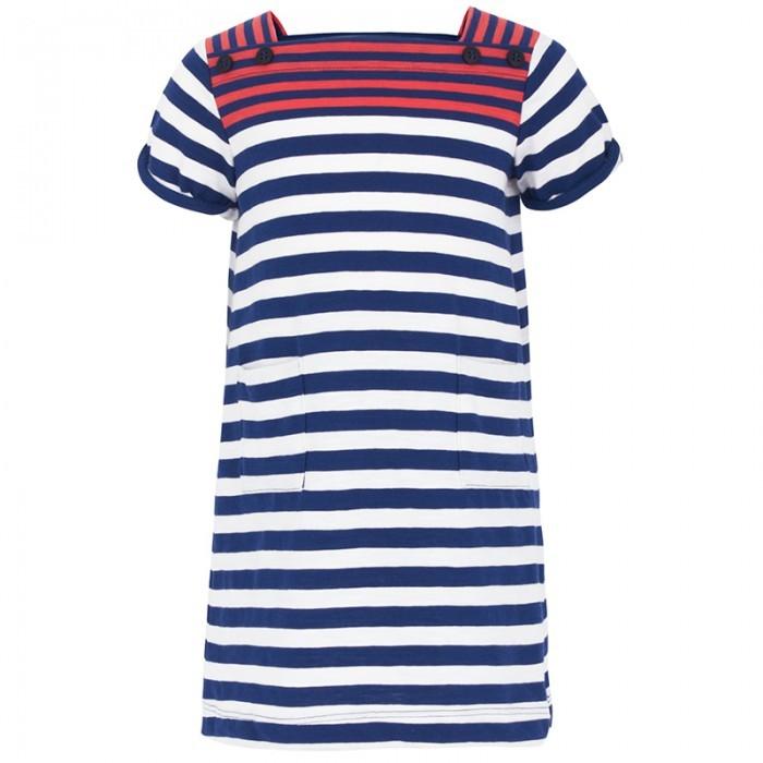 Petit Bateau Stripe Pocket Detail Dress